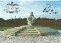 Battle of Britain Memorial Folkestone postcard signed