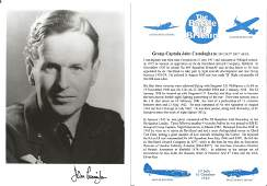 Group Captain John Cunningham CBE DSO DFC signed 7x5