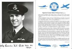 Squadron Leader Robert William Foster DFC AE signed 7x5