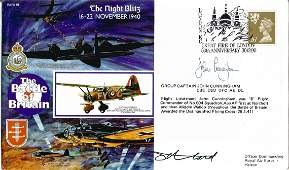 Grp Capt John Cunningham CBE DSO DFC AE DL signed FDC