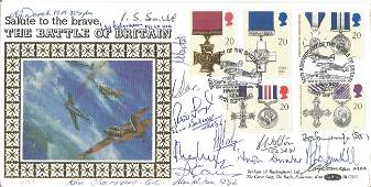 Salute to the Brave The Battle Britain FDC multi Signed