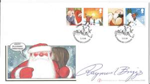 Raymond Briggs author The Snowman signed Internetstamps