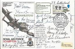 Dambusters Rare multiple signed Avro Lancaster SC36