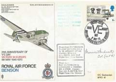 Col Maurice Buckmaster WW2 SOE leader signed 1970 RAF