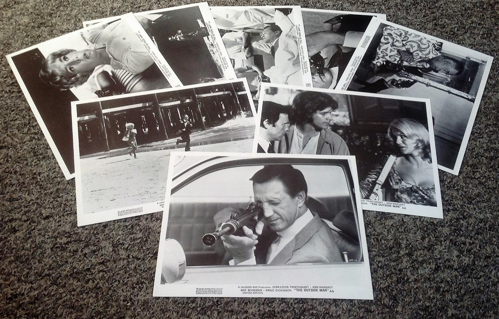 The Outside Man Lobby card collection set of 8 from the