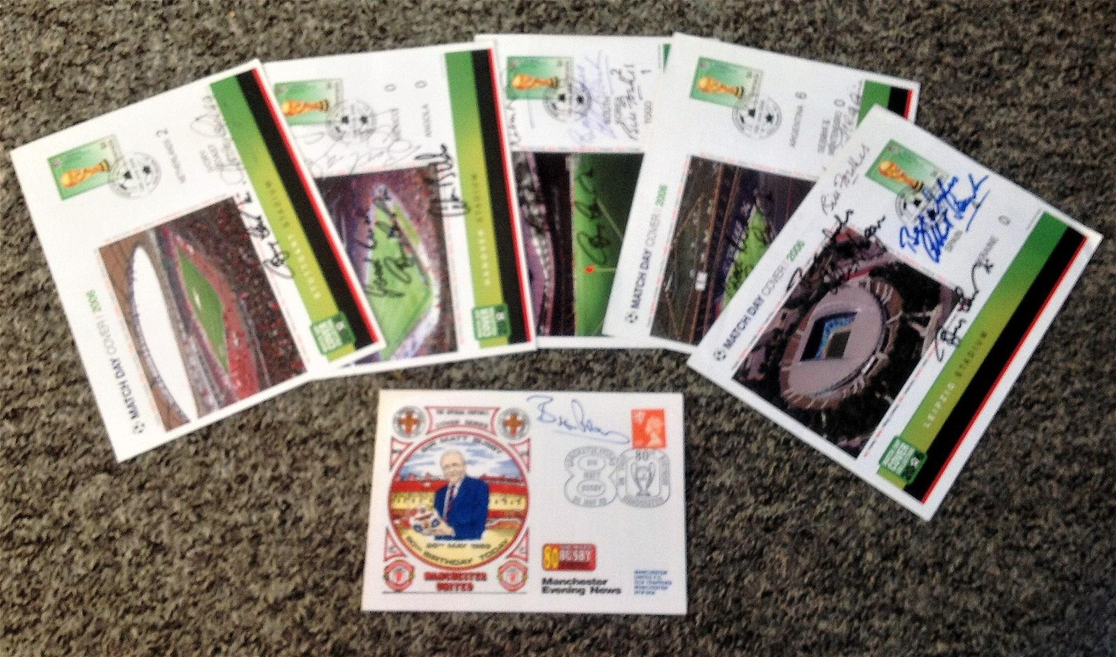 Football collection 5 signed FDCs includes 4 2006 World