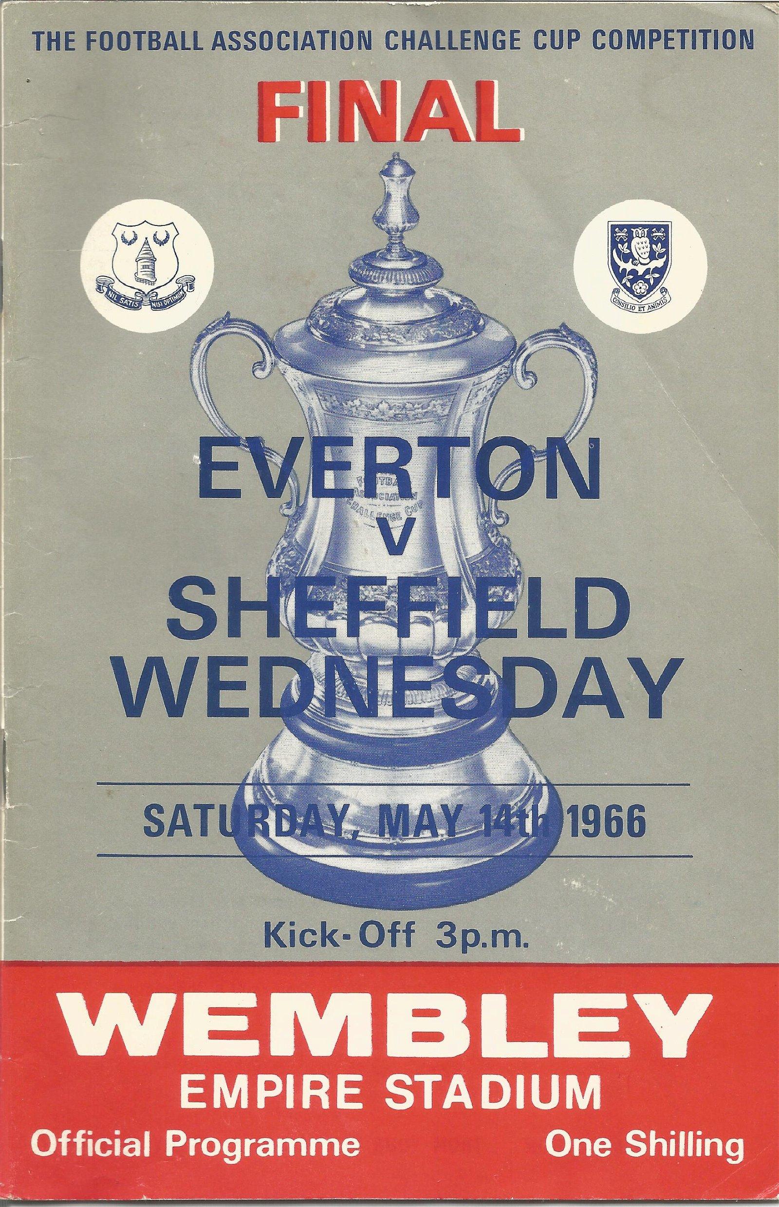 Everton v Sheffield Wednesday 1966 FA Cup final vintage