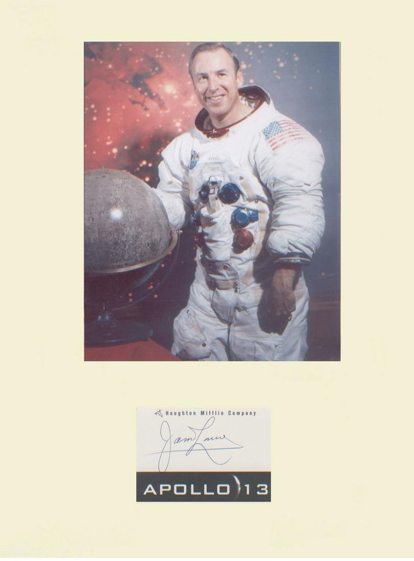 Apollo 13 James Lovell NASA astronaut Signature mounted