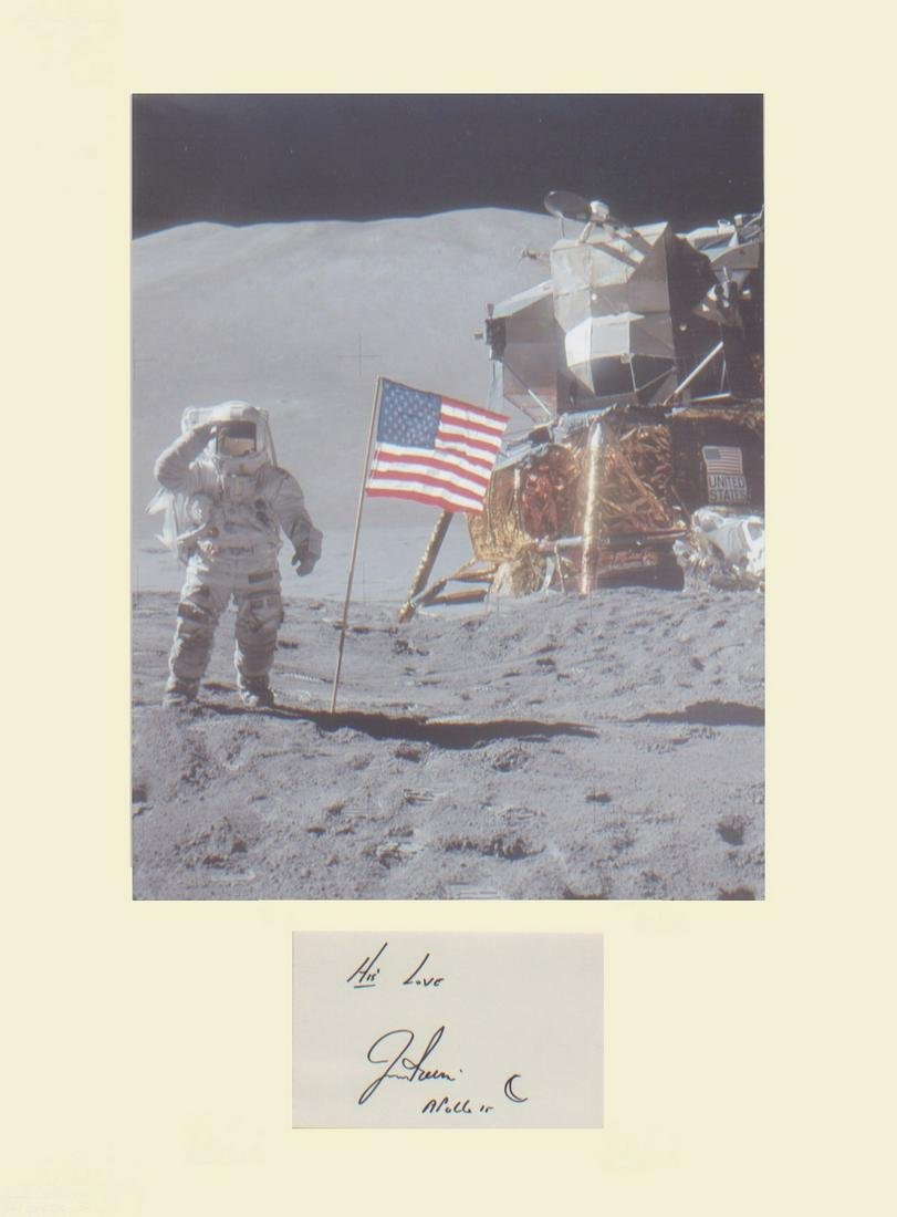 Apollo 15 James Irwin NASA astronaut Signature mounted