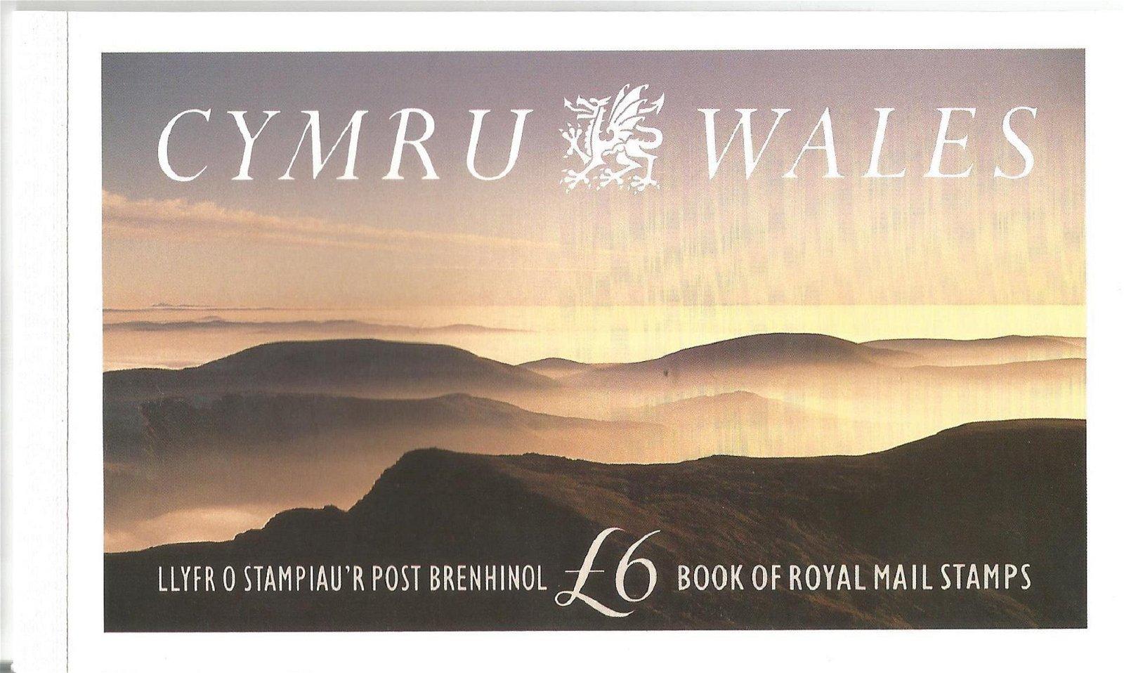Royal Mail complete prestige stamp booklet - Cymru