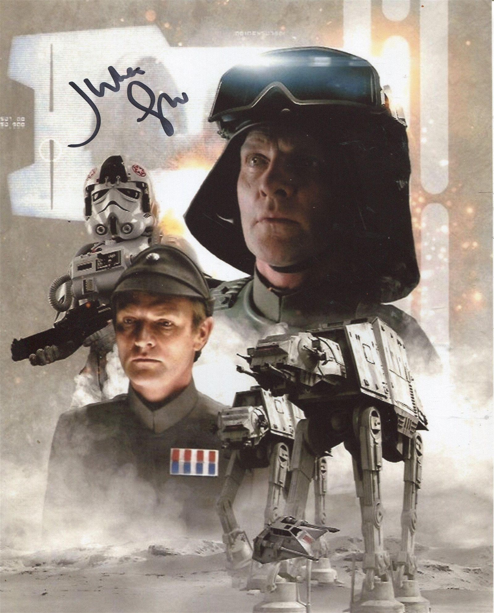 STAR WARS 8x10 movie montage photo signed by actor
