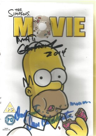 Matt Groening Signed Dvd Sleeve For The Simpsons Movie Oct 04 2019 Chaucer Auctions In United Kingdom