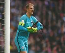 Joe Hart Signed England 8x10 Photo. Good Condition. All