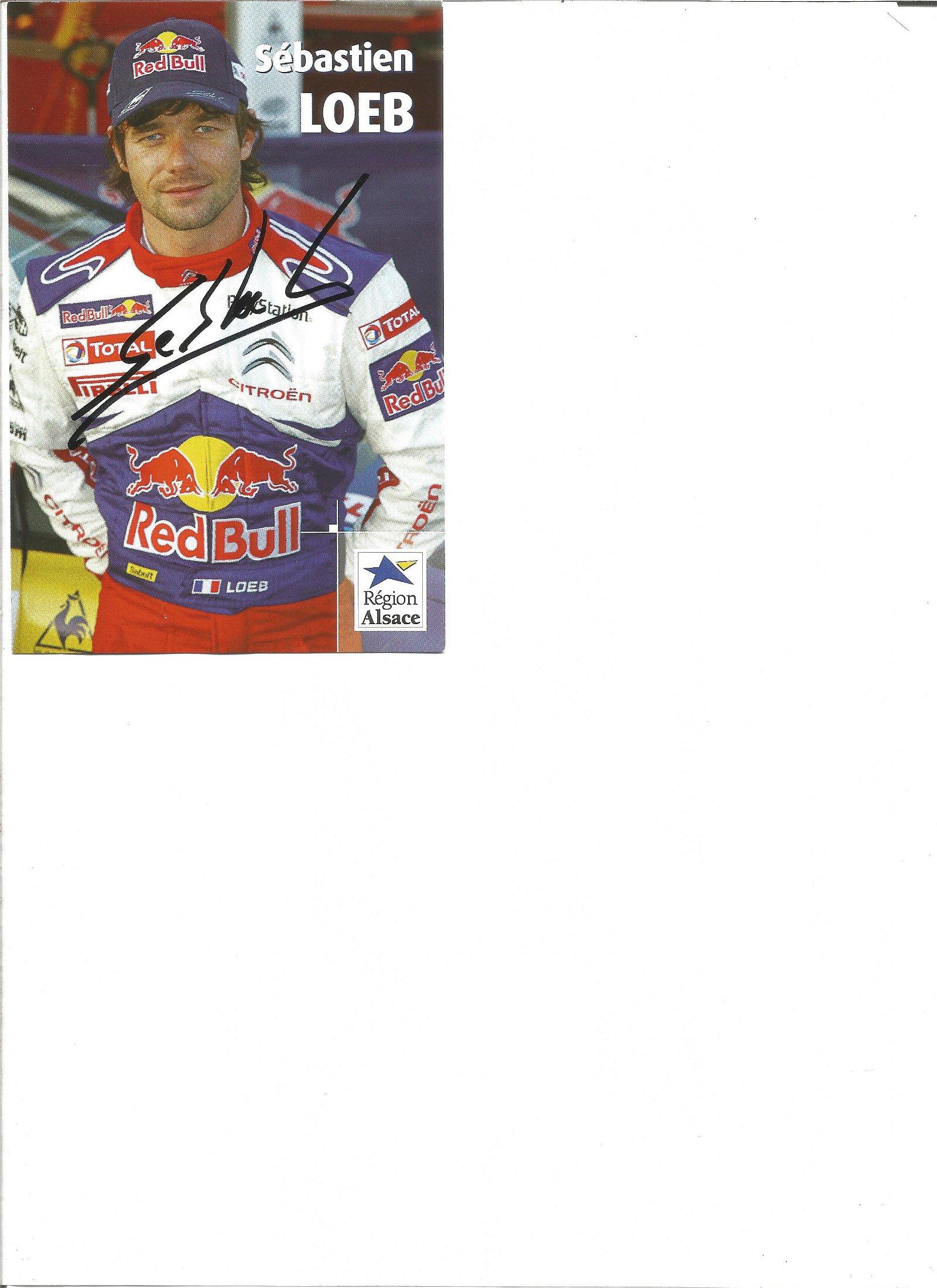 Motorsport Sebastian Loeb signed 6x4 Red Bull promo