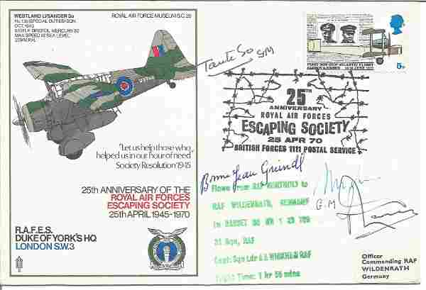 Rare WW2 Resistance leaders signed RAF Duke of Yorks