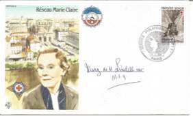 Mary de M Lindell OBE signed Reseau Marie Claire RAF