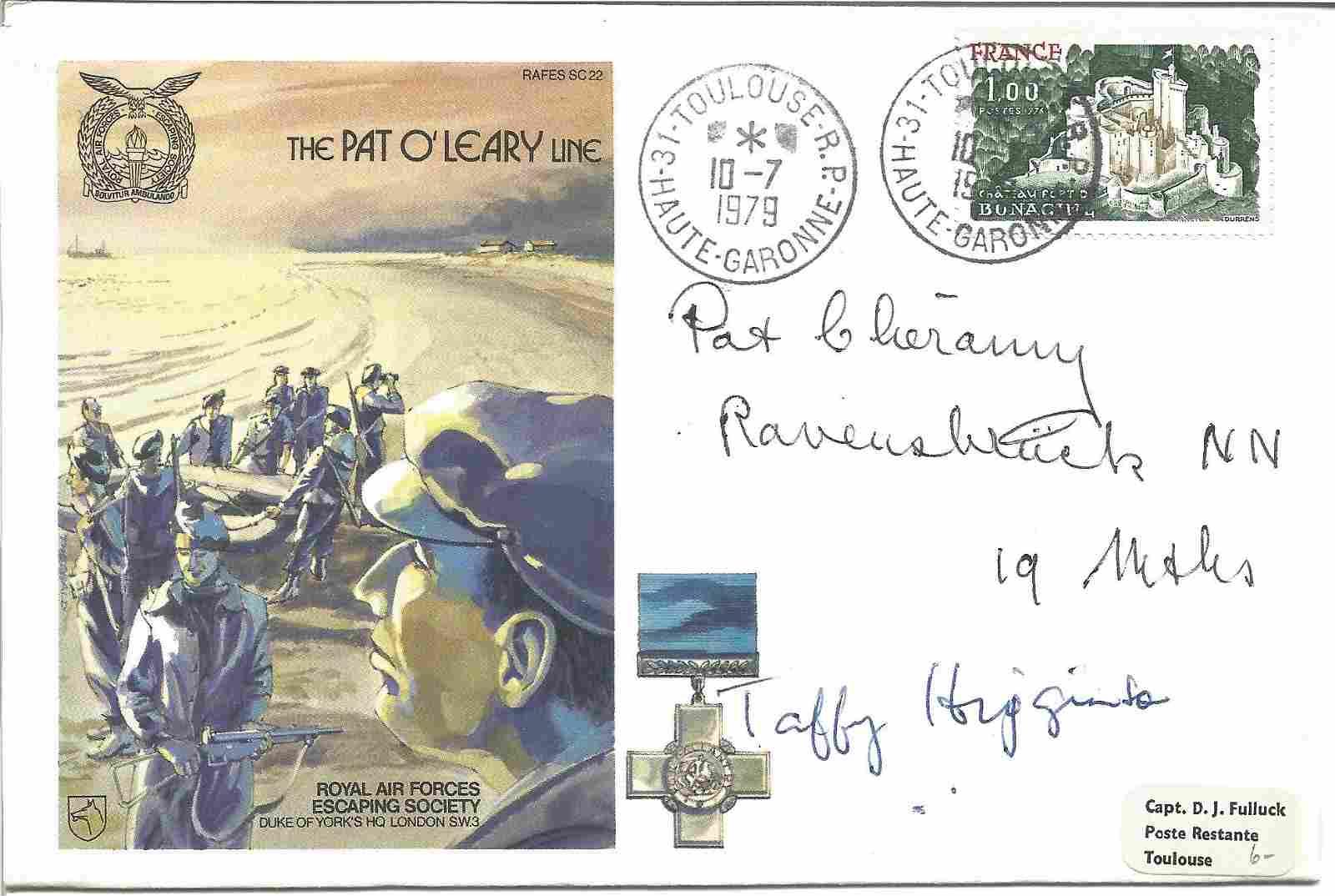 Taffy Higginson DFC WW2 ace and Pat Cheramy Resistance