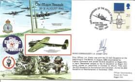 Wg Cdr Ian Cosby DFC WW2 BOB pilot signed 1990, 50th