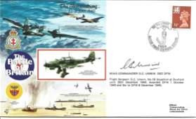 Wg Cdr George Grumpy Unwin DSO DFC WW2 BOB pilot signed
