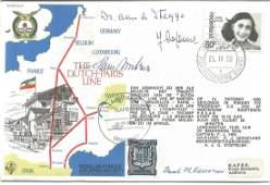 Four WW2 resistance leaders signed Dutch Paris Line RAF