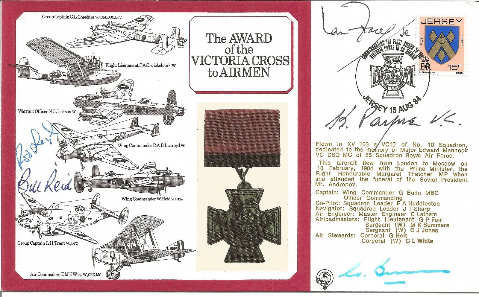 Keith Payne VC, Bill Reid VC and Rod Learoyd VC signed