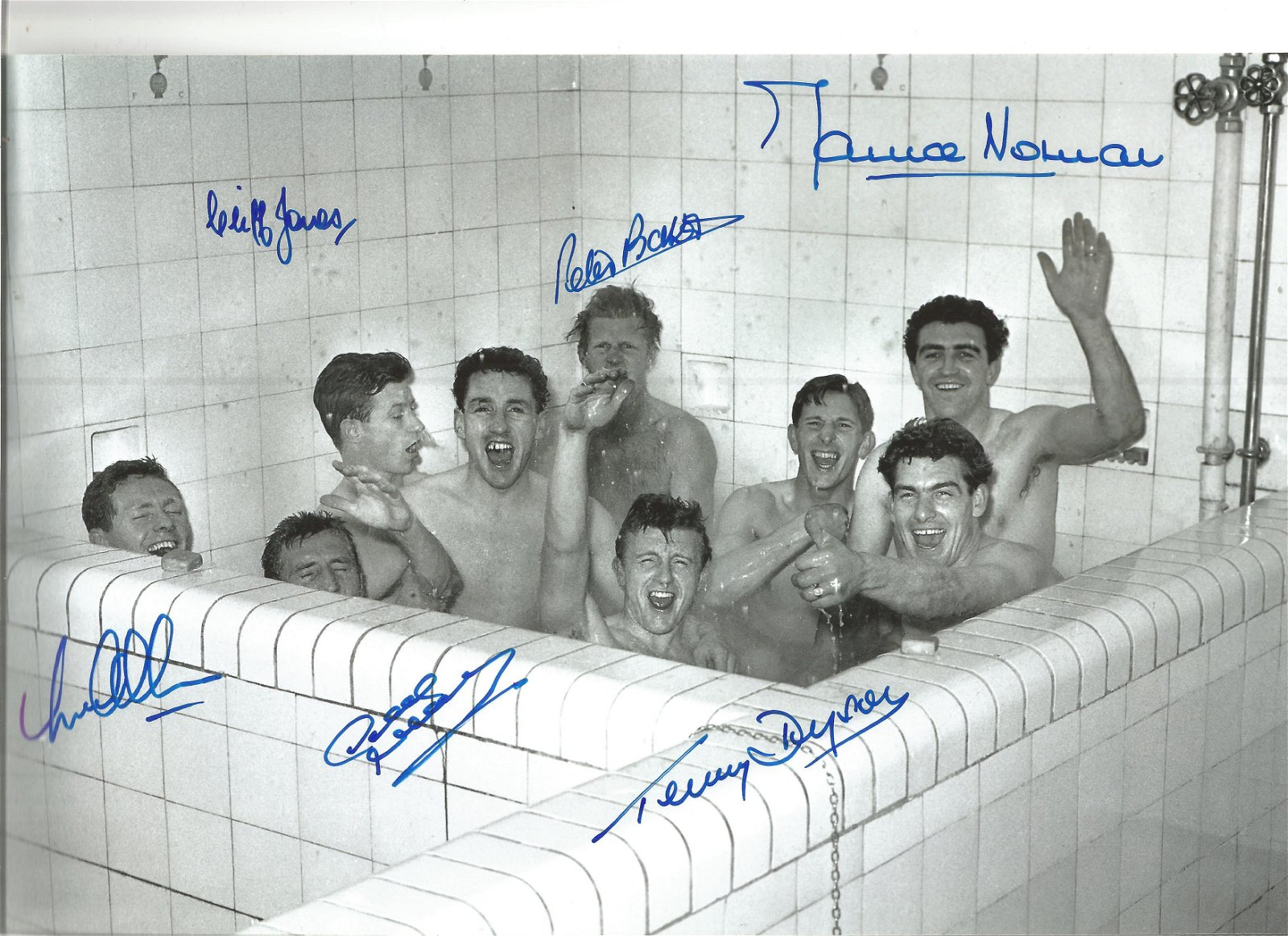 Tottenham 1961 Football Autographed 12 X 8 Photo, A