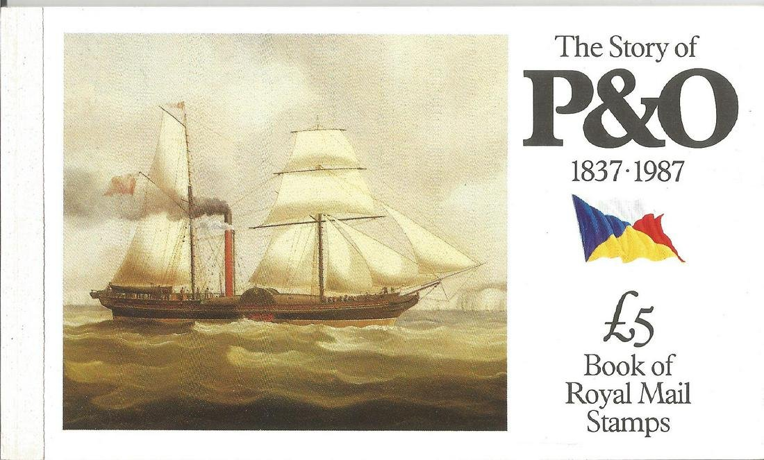 Story of P & O £5 Royal mail complete prestige stamp
