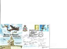 Eight Battle of Britain fighter pilots signed 1997 BOB