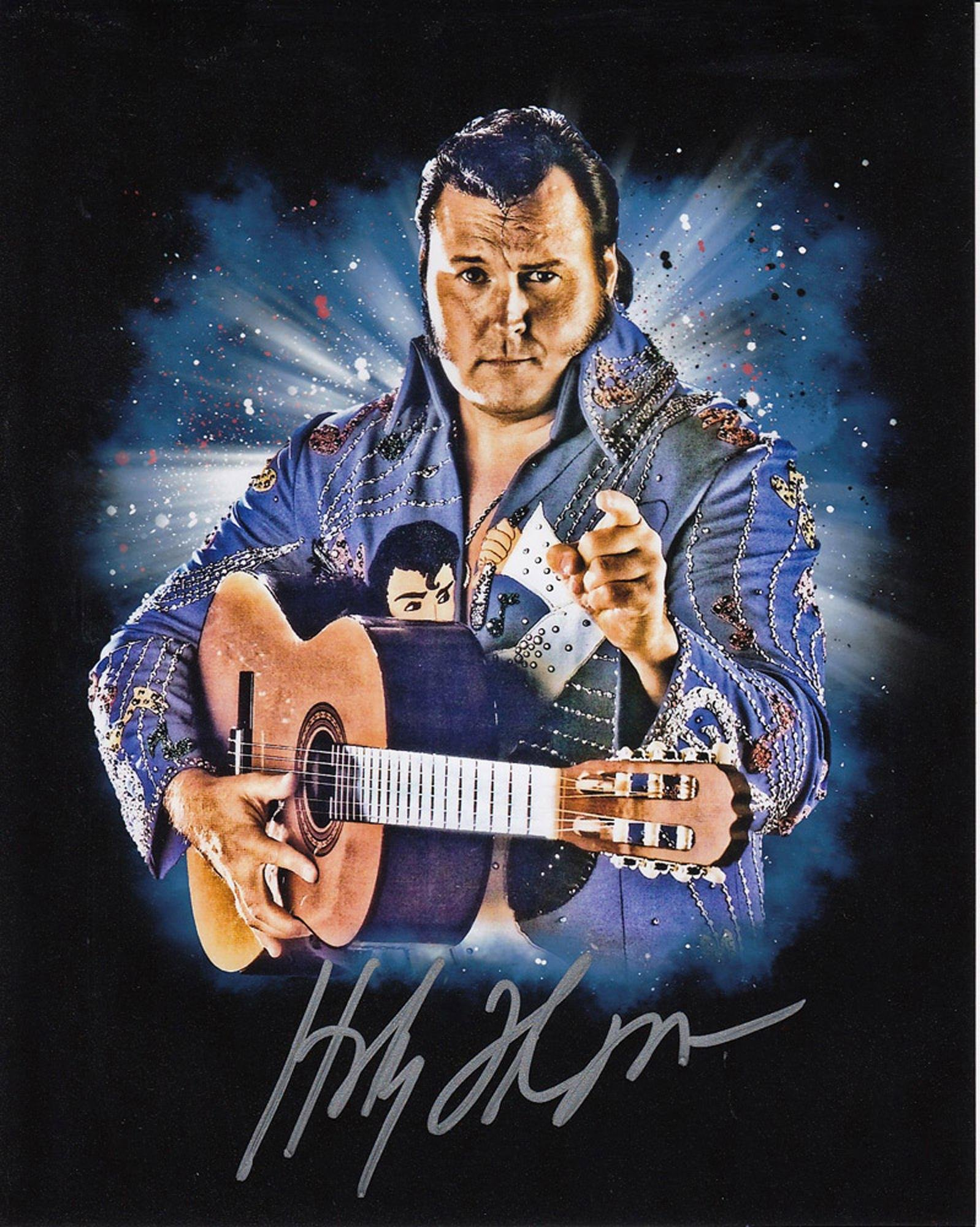 Blowout Sale! WWE WWF The Honky Tonk Man hand signed