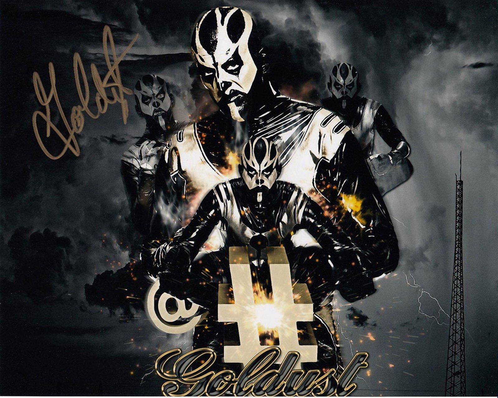 Blowout Sale! WWE WWF Goldust hand signed 10x8 photo.