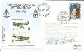 WW2 fighter ace Douglas Bader DSO DFC signed 50th ann