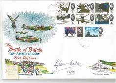 WW2 fighter ace Douglas Bader DSO DFC signed 1965 25th