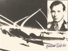 WW2 Luftwaffe ace Lt Johann Pichler KC 75 victories