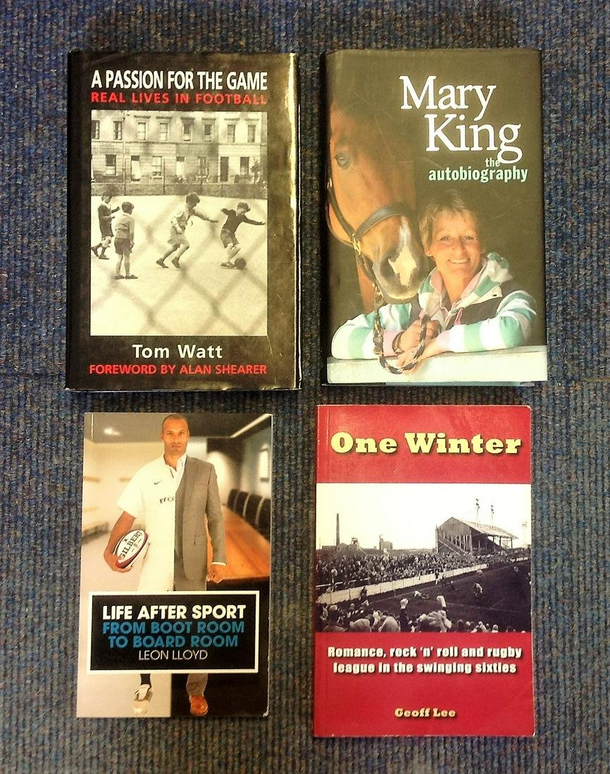 Sport book collection. 4 in total. All signed inside by