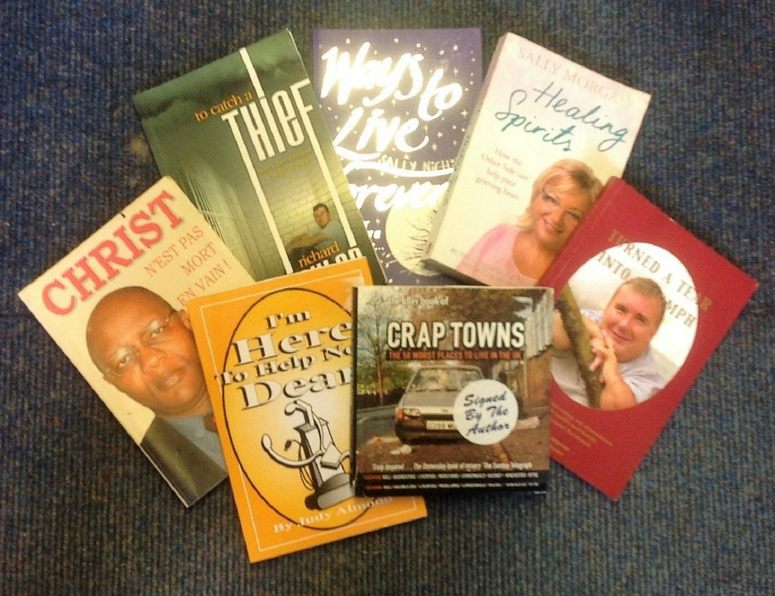 Assorted book collection. 7 in total. All signed inside