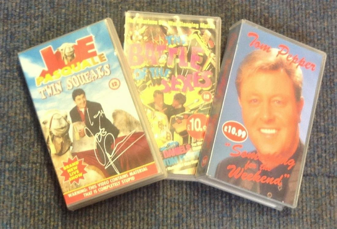 VHS video signed collection. 3 in total. Al signed.