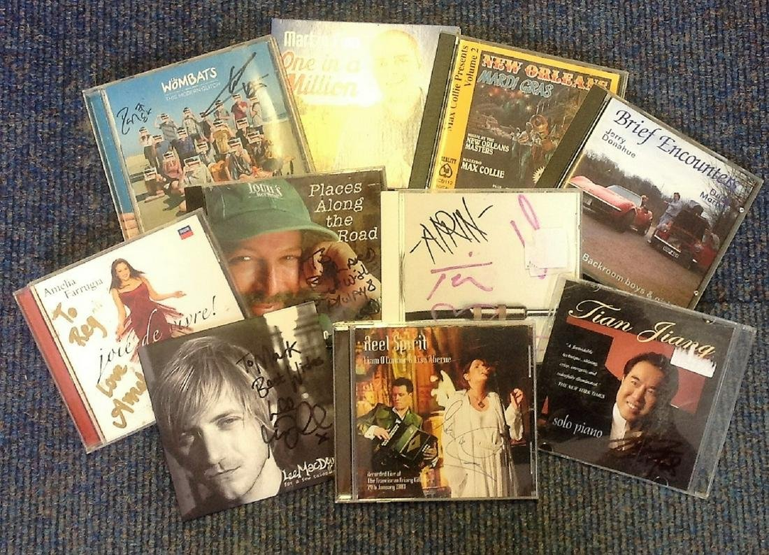 CD signed collection. 11 in total. All signed includes,