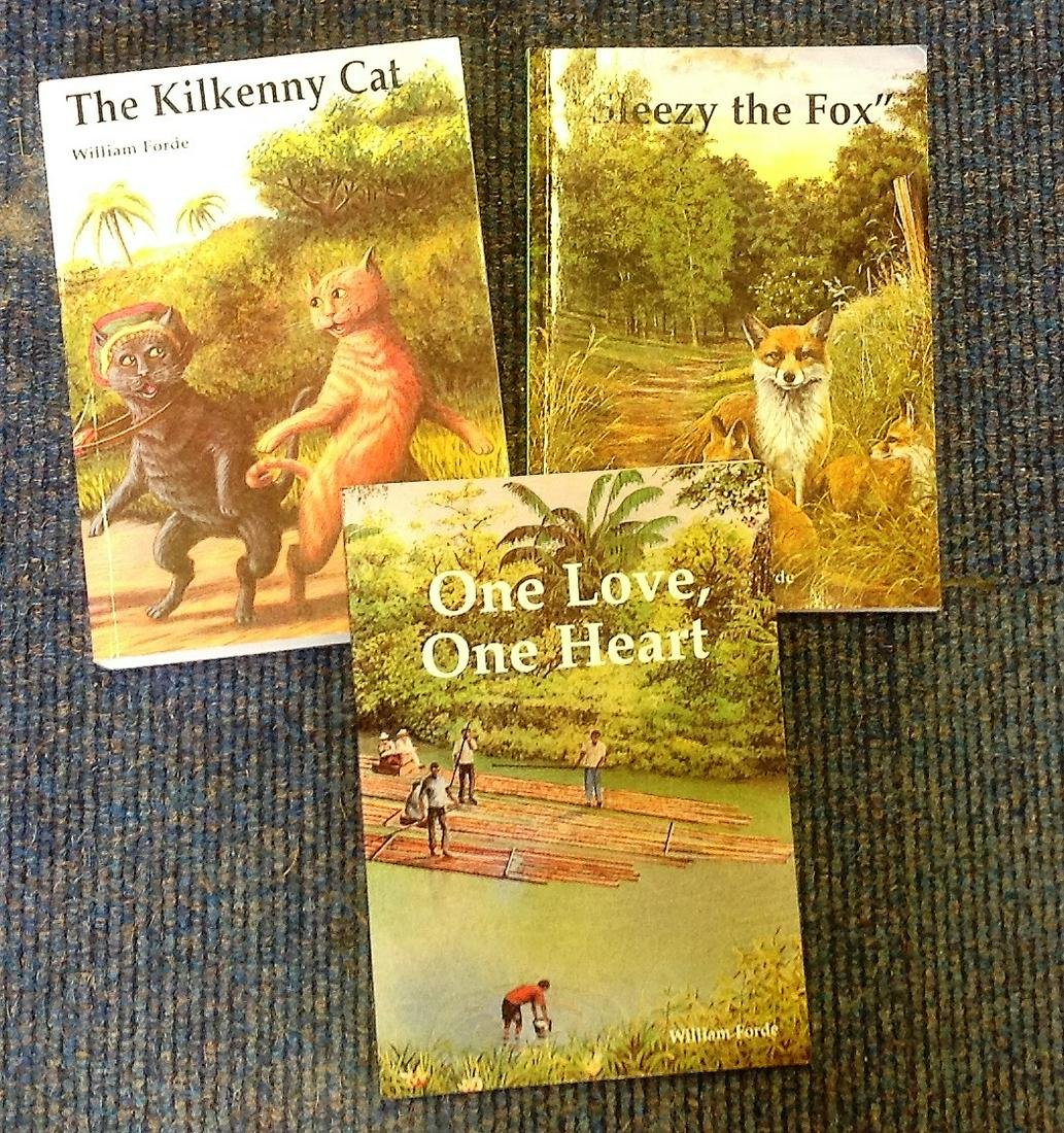 William Forde signed book collection. 3 in total. All