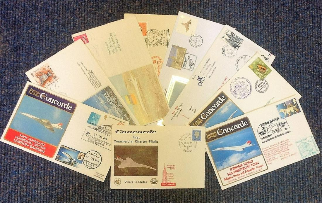 Concorde FDC collection. 9 included. Includes First