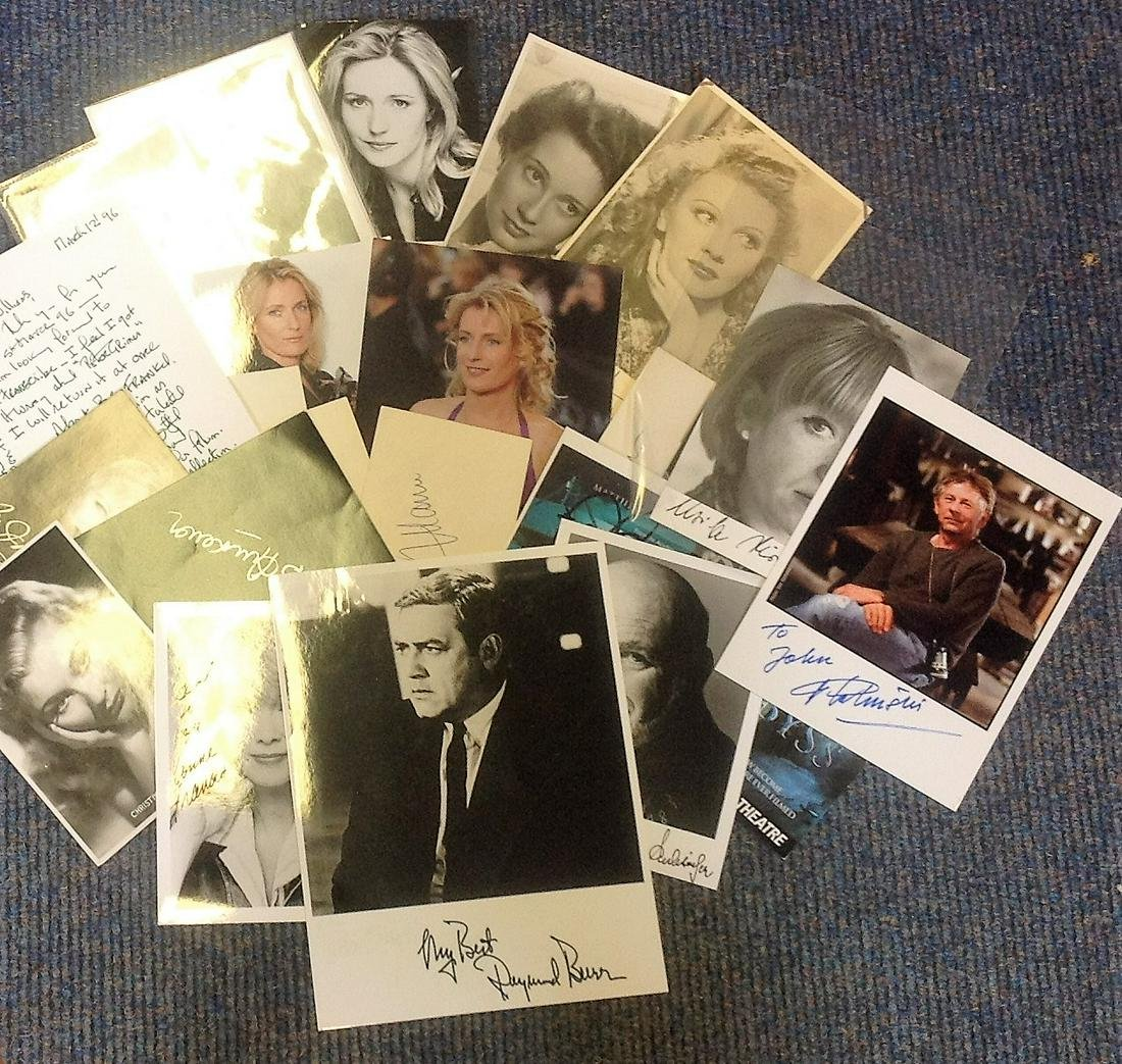 Assorted signed collection. 23 items mainly photos but