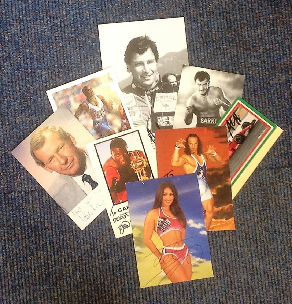 Sport signed collection. Mainly 6x4 photos. Amongst the