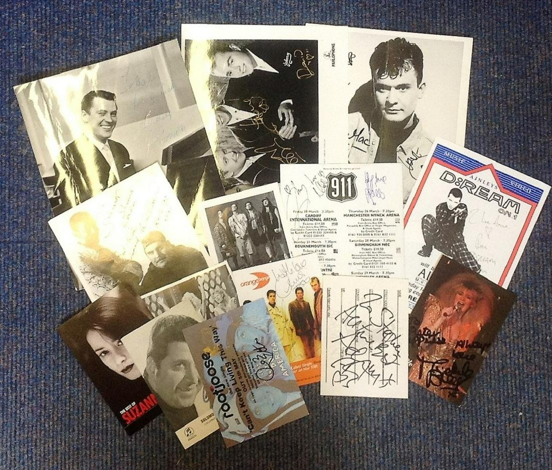 Music signed collection. 14 items. Assortment of