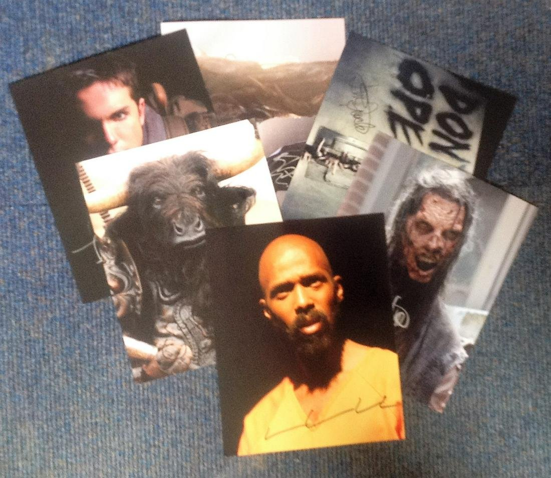 Assorted signed 10x8 photo collection. 6 photos.