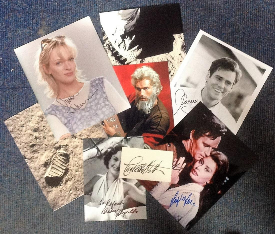 SECRETARIAL signed collection. Includes Charlton Heston