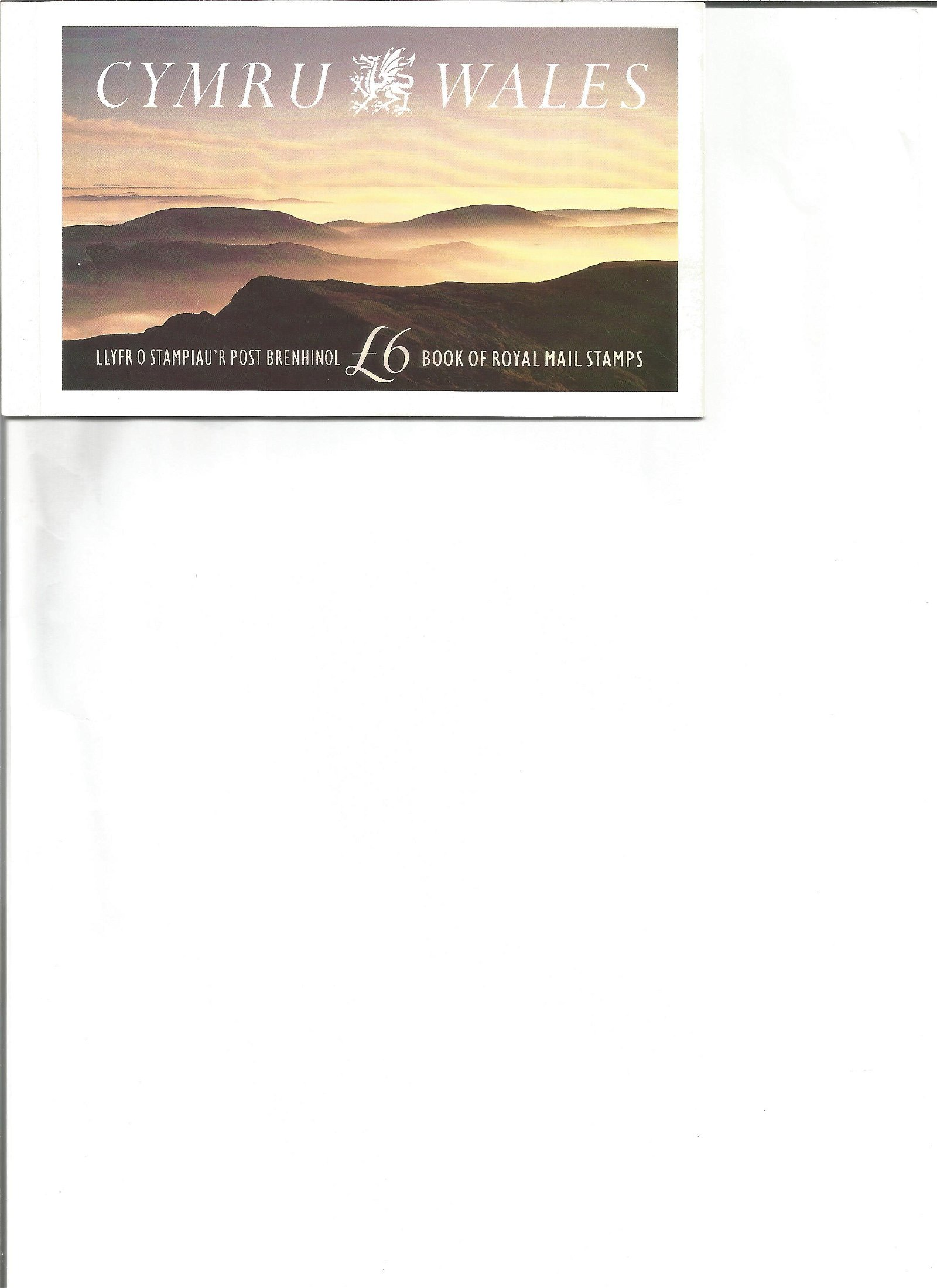 Royal Mail complete prestige stamp booklet Cymru Wales.