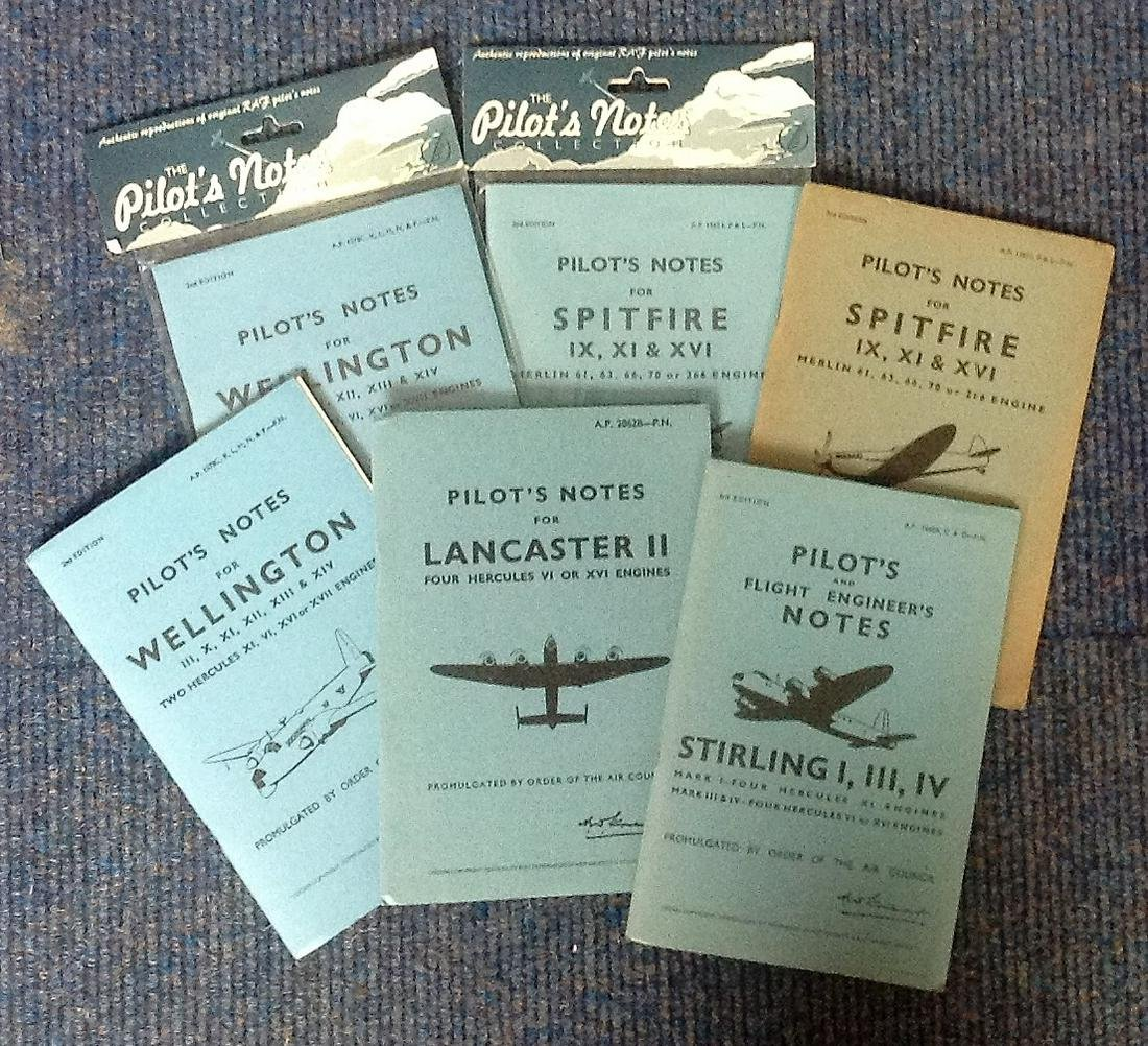 Pilot's Notes paperback book collection. 6 books in