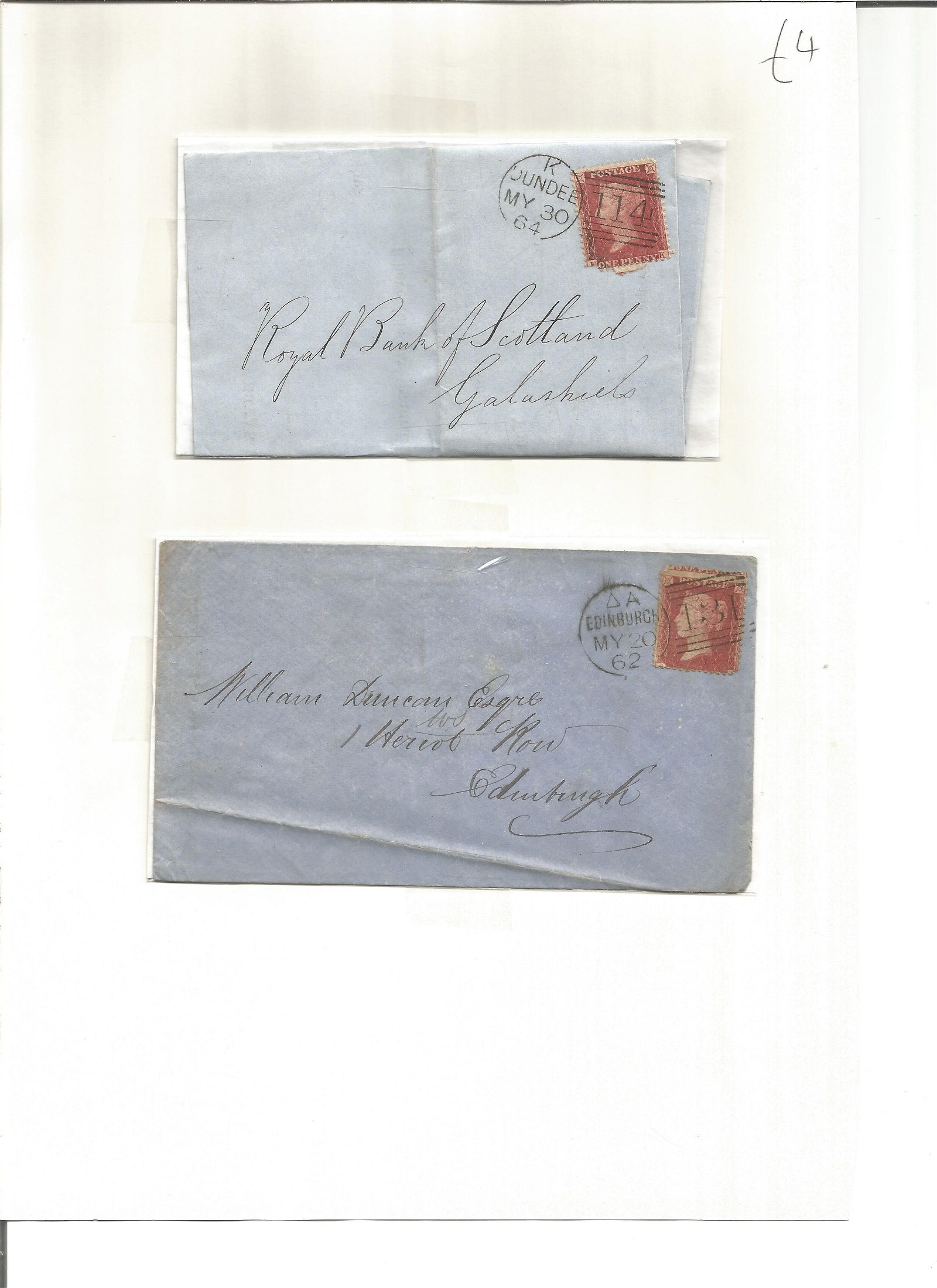Postal History. 2 free fonts. Good Condition. We