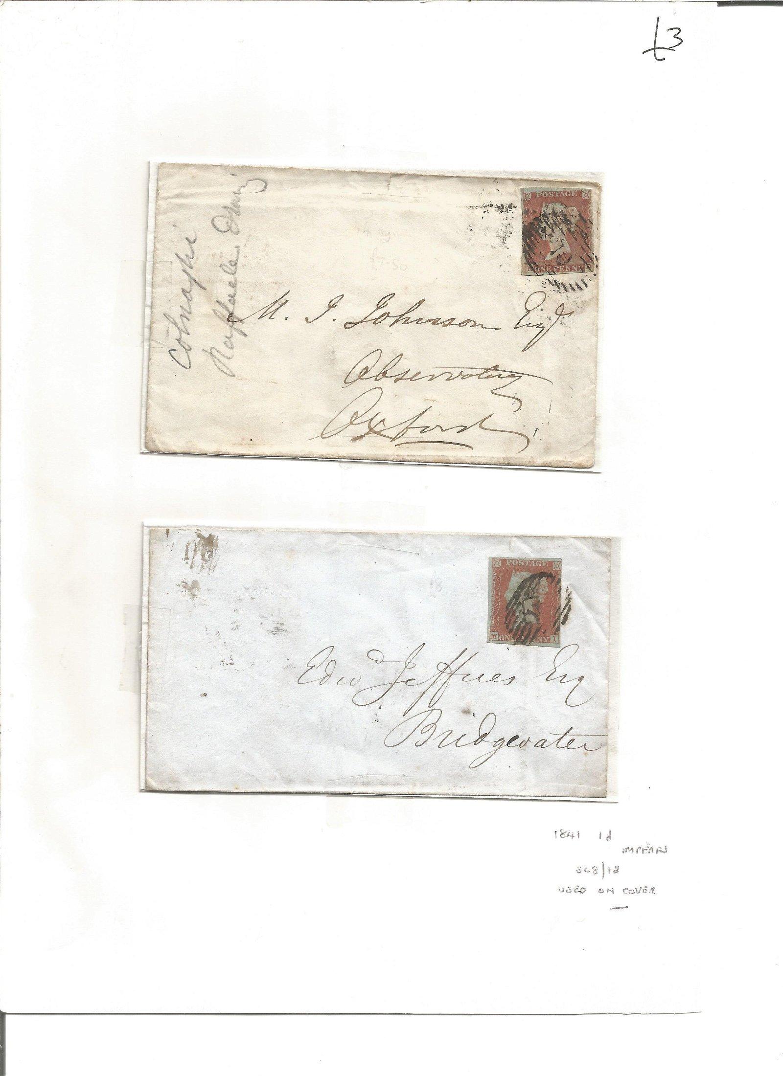 Postal History. 2 free fonts. 1841 1d imperfs SG8/12