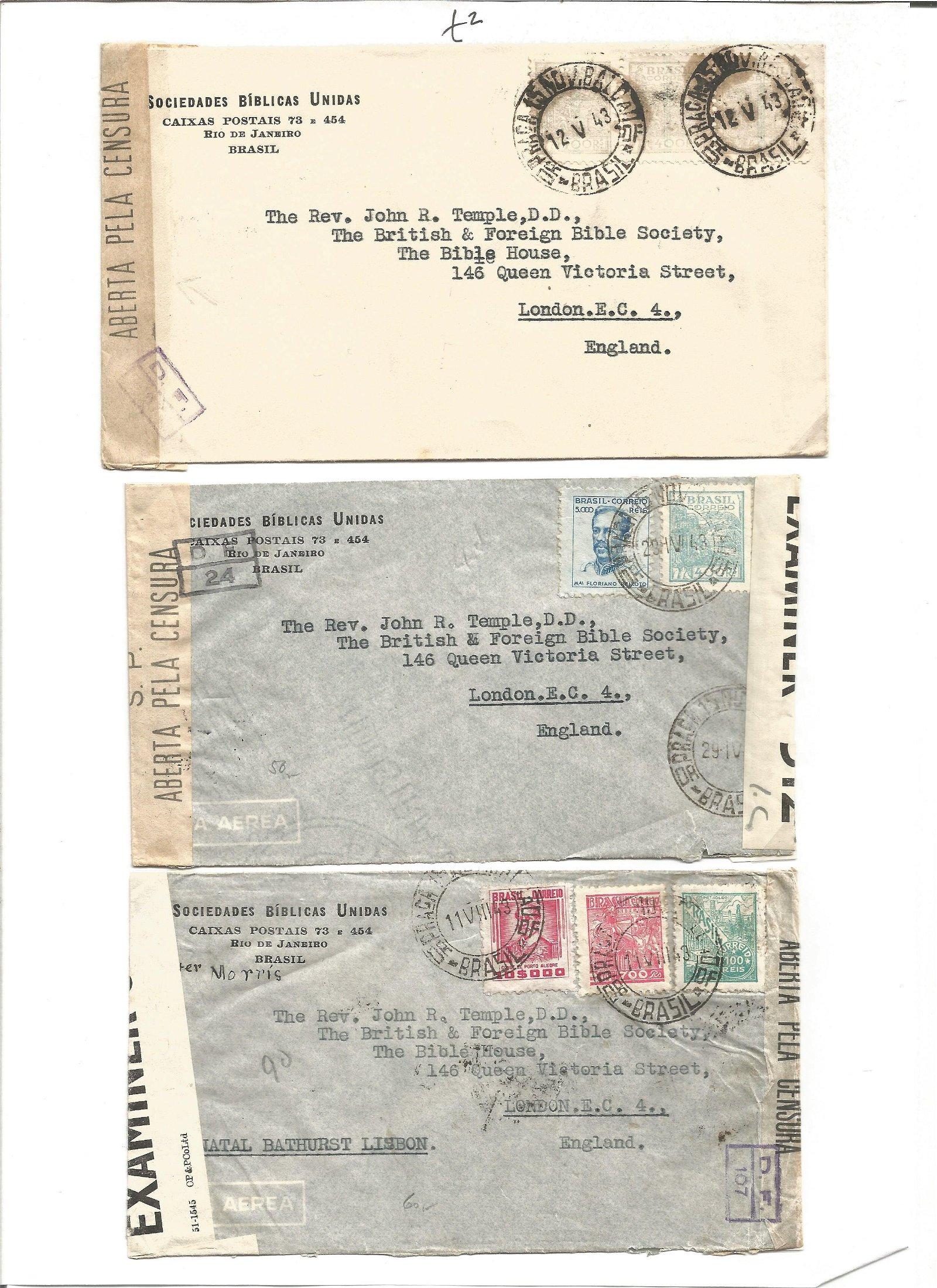 Postal History. 3 letter envelopes. Good Condition. We