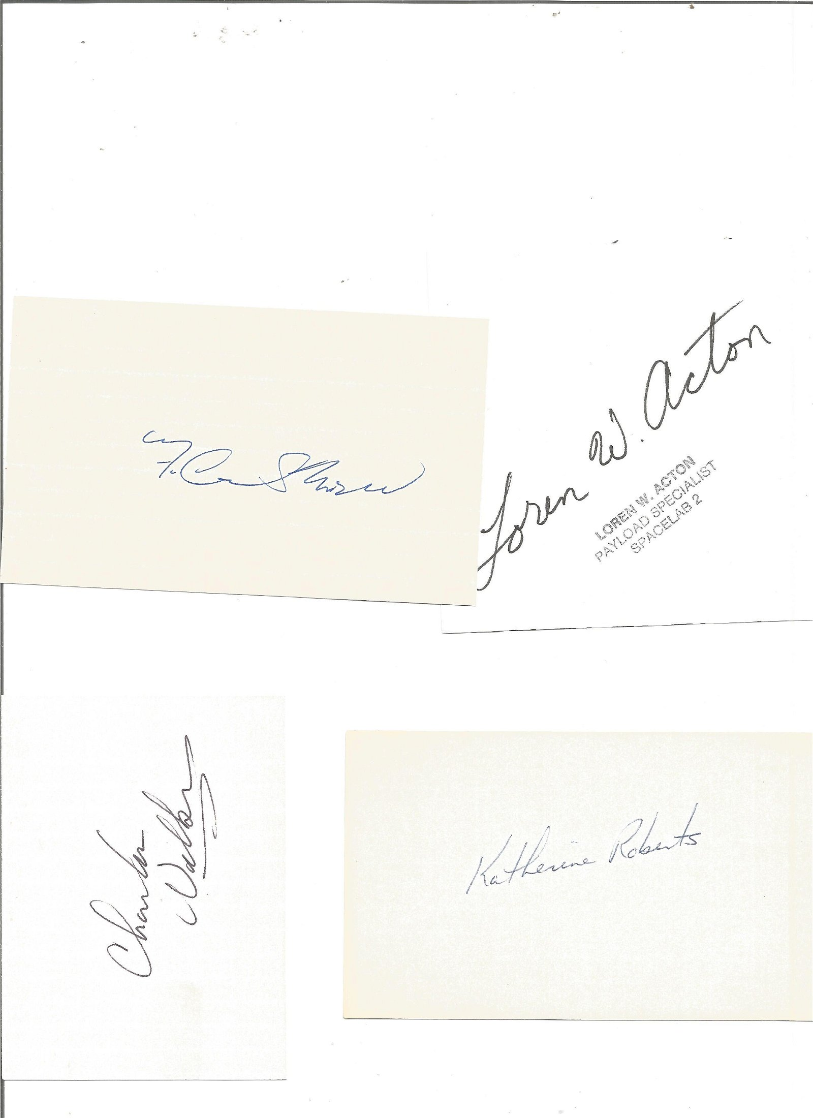 US Fighter and test pilots autographs P Hoag, Milt